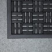 Texas Heavy Duty Rubber Entrance Mat in Black